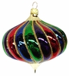 Colorful Onion Ornament by Hausdörfer Glas Manufaktur
