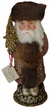 Copper Santa with Fur Muff Paper Mache Candy Container by Ino Schaller