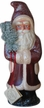 Creame Edged Red Santa Paper Mache Candy Container by Ino Schaller