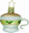 Cup of Holly Tea Cup Ornament by Inge Glas