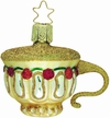 Cup of Roses Tea Cup Ornament by Inge Glas