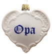"Opa"" Heart Ornament by Lindner Porzellanfabrik KG in K�ps, Germany"