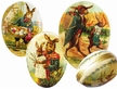 Decoupage Cardboard Fillable German Easter Eggs