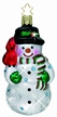 Diamonds in the Snow Snowman Ornament Encrusted with Swarovski Crystals by Inge Glas