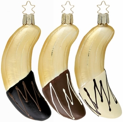 Dipped Bananas Ornament by Inge Glas - $15 Each