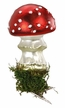Dotted Mushroom Clip On Ornament by Inge Glas