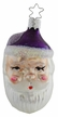 Double Sided Santa Head Ornament by Inge Glas