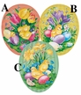 "Spring Awakening 12cm (4.72"") Decoupage Cardboard German Easter Eggs by Nestler - $6.50 each"