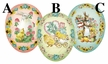 "Easter Greetings 12cm (4.75"") Decoupage Cardboard German Easter Eggs by Nestler - $6.50"