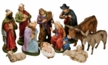 Eleven Piece Nativity Set, 14cm scale, Paper Mache Figurines by Marolin