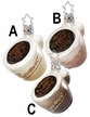 Espresso Cups Ornament by Inge Glas - $15.50 Each