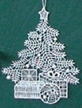 Lace Tree with Presents Ornament by Stickservice Patrick Vogel in OT Hammerbrücke