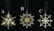 Lace Gold & White Snowflake Ornament by Stickservice Patrick Vogel in OT Hammerbrücke - $5.00 Each