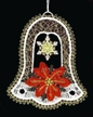 Lace Colored Bell with Poinsettia Ornament by Stickservice Patrick Vogel in OT Hammerbrücke