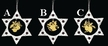Lace Star Ornament with Wood Dangle by Stickservice Patrick Vogel in OT Hammerbrücke - $7 each