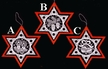 Lace Star Ornament with Red Wood Star Frame by Stickservice Patrick Vogel in OT Hammerbr�cke - $8 Each
