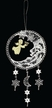 Lace Moon Dangle Ornament with Wood Angel Playing Harp by Stickservice Patrick Vogel in OT Hammerbrücke