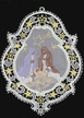 Lace Window Ornament with Nativity by Stickservice Patrick Vogel in OT Hammerbrücke
