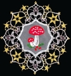 Lace Double Mushroom Ornament by Stickservice Patrick Vogel in OT Hammerbrücke