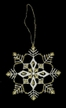 Lace Gold/White Snowflake/Tulip Ornament by Stickservice Patrick Vogel in OT Hammerbrücke