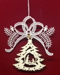Lace Nativity in Tree and Bow Ornament by Stickservice Patrick Vogel in OT Hammerbrücke