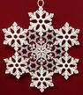 Lace Snowflake with Silver Ornament by Stickservice Patrick Vogel in OT Hammerbr�cke
