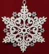 Lace Snowflake with Silver Ornament by Stickservice Patrick Vogel in OT Hammerbrücke