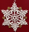 Lace Snowflake with Gold Ornament by Stickservice Patrick Vogel in OT Hammerbrücke