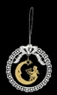 Lace Ball Ornament with Wood Angel Playing Harp by Stickservice Patrick Vogel in OT Hammerbrücke