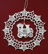 Lace Snowflake with Train Dangle Ornament by Stickservice Patrick Vogel in OT Hammerbrücke