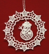 Lace Snowflake with Snowman Dangle Ornament by Stickservice Patrick Vogel in OT Hammerbrücke