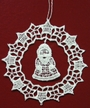 Lace Snowflake with Santa Dangle Ornament by Stickservice Patrick Vogel in OT Hammerbrücke