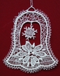 Lace Pointsettia in Bell Ornament by Stickservice Patrick Vogel in OT Hammerbrücke