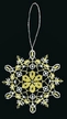 Lace White & Gold Snowflake Ornament by Stickservice Patrick Vogel in OT Hammerbücke