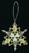 Lace Gold & White Snowflake Ornament by Stickservice Patrick Vogel in OT Hammerbrücke