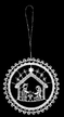 Lace Kugel Nativity Ornament by Stickservice Patrick Vogel in OT Hammerbrücke