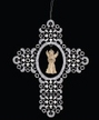 Angel Singing in Lace Cross Ornament by Stickservice Patrick Vogel in OT Hammerbr�cke