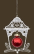 Lace Lantern with Red Ball Ornament by Stickservice Patrick Vogel in OT Hammerbrücke