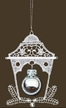 Lace Lantern with Silver Bell Ornament by Stickservice Patrick Vogel in OT Hammerbrücke