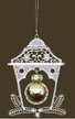 Lace Lantern with Gold Ball Ornament by Stickservice Patrick Vogel in OT Hammerbrücke