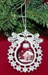 Lace Wreath with Red Painted Ball Ornament by Stickservice Patrick Vogel in OT Hammerbrücke