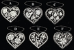 Lace Flowers in Heart Ornament by Stickservice Patrick Vogel in OT Hammerbrücke - $3.50 Each