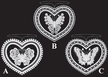 Lace Butterfly in Heart Ornament by Stickservice Patrick Vogel in OT Hammerbr�cke - $5 Each