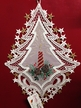 Lace Window Ornament with Red Candle by Stickservice Patrick Vogel in OT Hammerbrücke