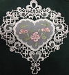 Lace Hollyhock Window Picture by Stickservice Patrick Vogel in OT Hammerbrücke