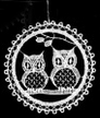 Lace Ball with Owls Ornament by Stickservice Patrick Vogel in OT Hammerbrücke