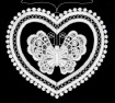 Lace Butterfly One Ornament by Stickservice Patrick Vogel in OT Hammerbr�cke