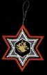 Lace Star with Bells in Red Frame Ornament by Stickservice Patrick Vogel in OT Hammerbrücke