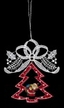 Lace Loop with Santa in Wood Frame Ornament by Stickservice Patrick Vogel in OT Hammerbrücke