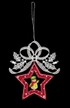 Lace Loop with Snowman in Wood Frame Ornament by Stickservice Patrick Vogel in OT Hammerbr�cke